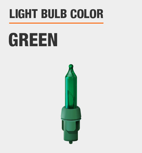 Light bulb color is Green