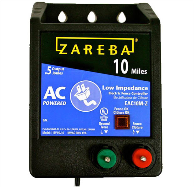 Zareba 10 Mile Low Impedance Energizer Eac10m Z The Home Depot