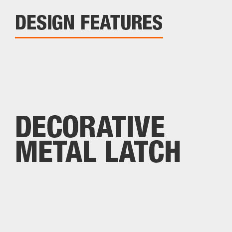 Coffee Table with Decorative Metal Latch