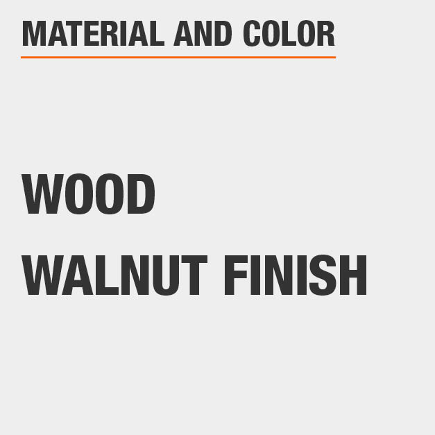 Walnut Finish Wood Coffee Table