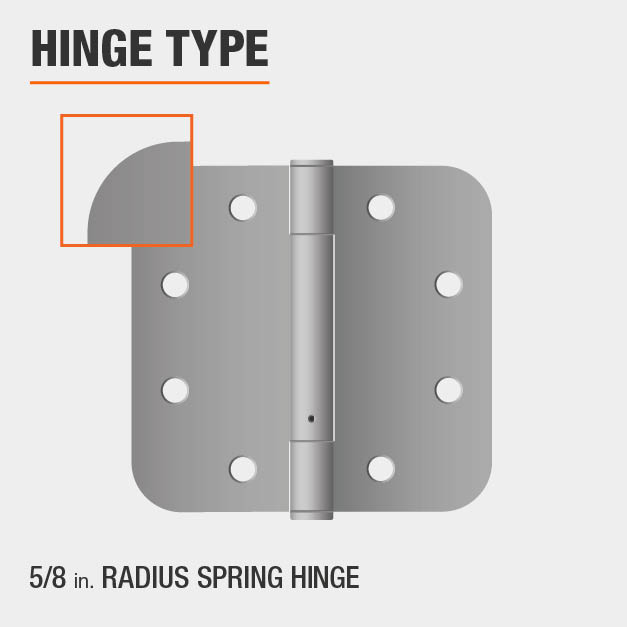 Everbilt 3-1/2 in  x 5/8 in  Radius Satin Chrome Adjustable Spring Door  Hinge