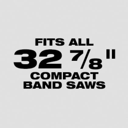 """Wil fit our Milwaukee 32 7.8"""" Compact Band Saw Blades: Available in 18 TPI"""