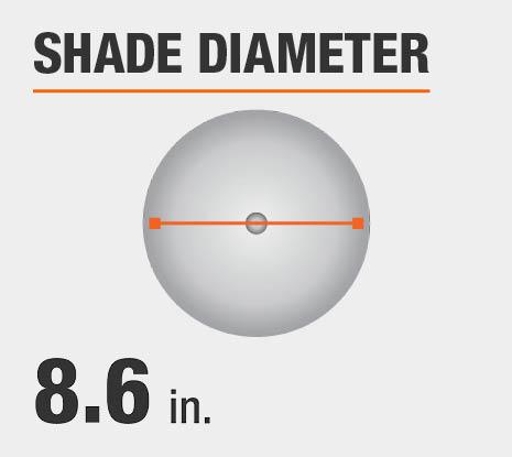 Shade Diameter: 8.60 in.