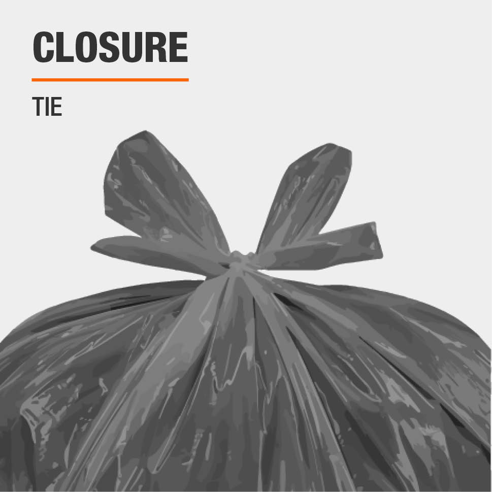 The closure type for this Trash Bag is Tie