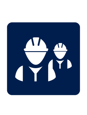 Infographic of workers in hard hats.