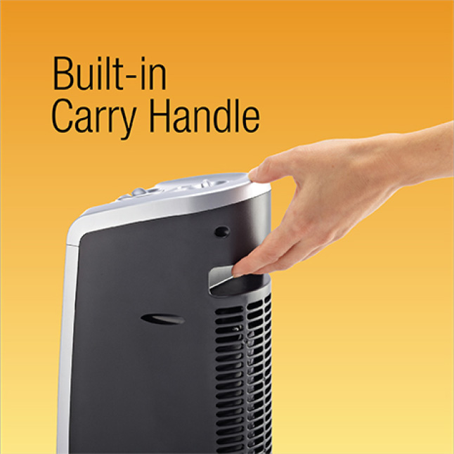 Ergonomic Built-In Carry Handle