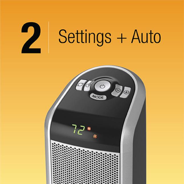 2 Heat Settings Plus Auto