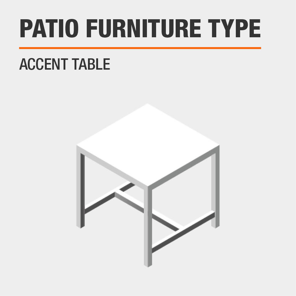 Patio Furniture Type  Accent Table