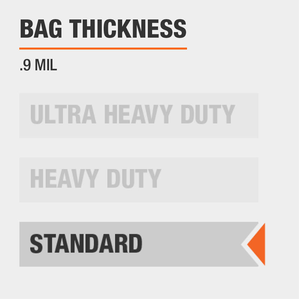 The thickness for this Trash Bag is Heavy Duty