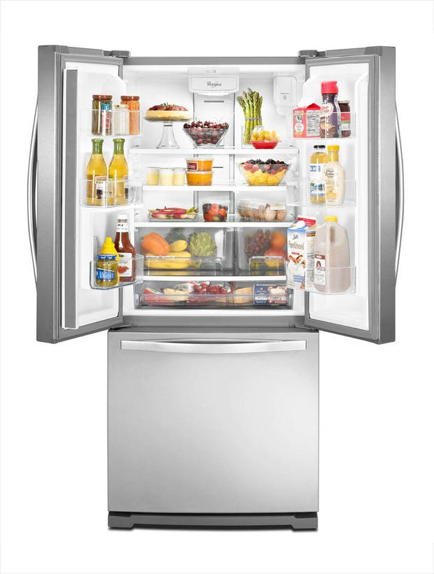 Whirlpool 30 In W 19 7 Cu Ft French Door Refrigerator