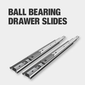 Tool chest drawers have ball bearing slides