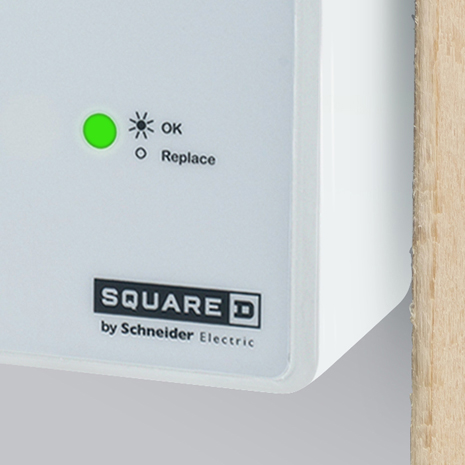 Visual confirmation the Surge Protection Device (SPD) is actively protecting your home