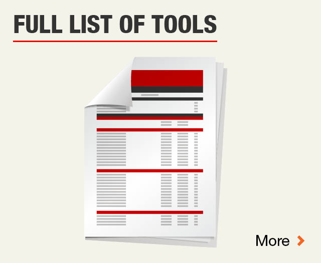 Full List of Tools