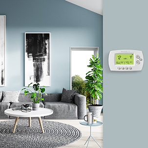 Family enjoying wifi thermostat's automatic heating and cooling feature