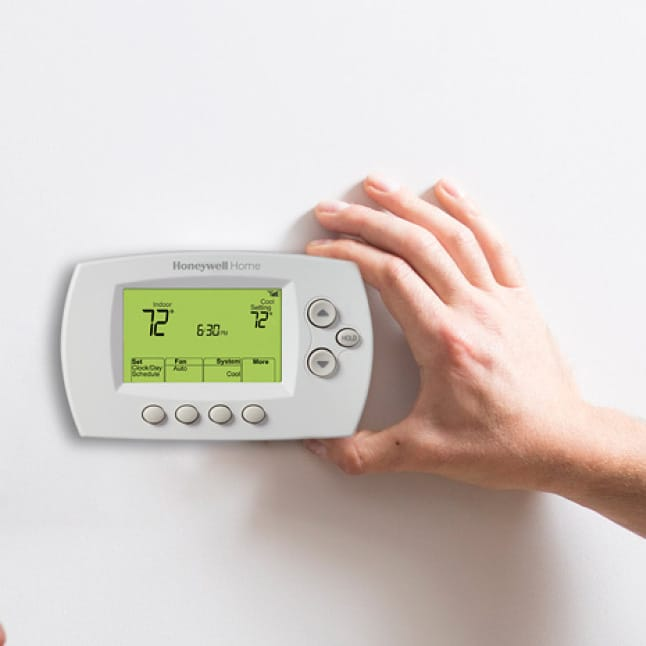 Installing wifi thermostat's cover plate