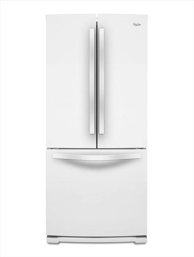 whirlpool 19 7 cu ft french door refrigerator in white wrf560smyw the home depot. Black Bedroom Furniture Sets. Home Design Ideas