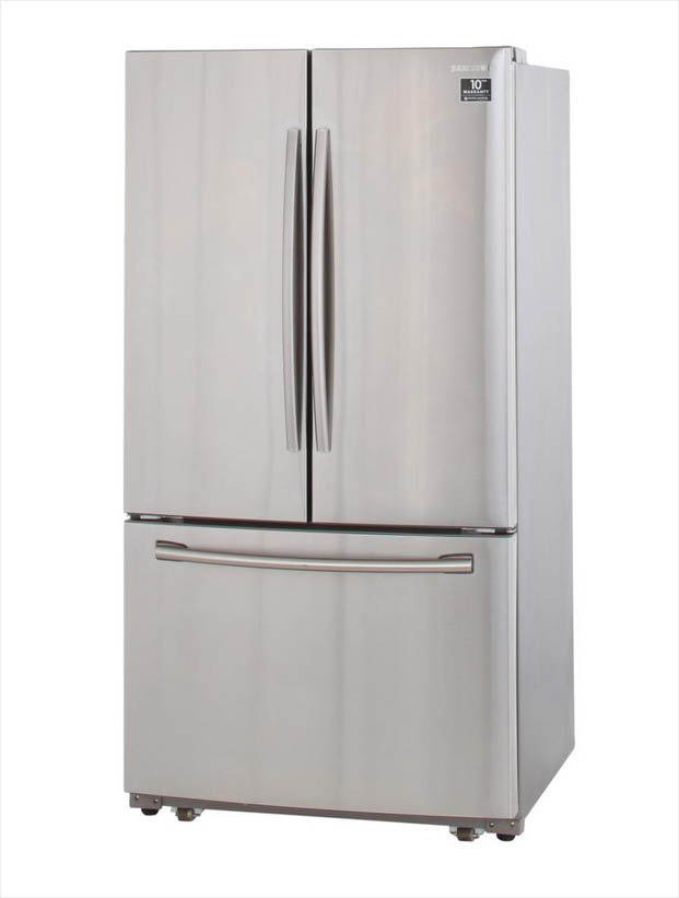 Samsung 25 5 cu  ft  French Door Refrigerator with Internal Water Dispenser  in Stainless Steel