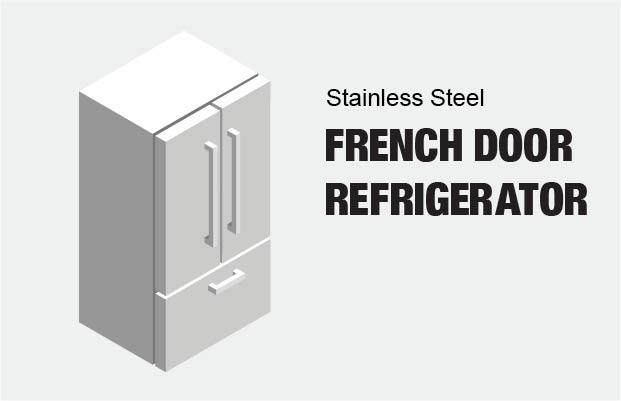 Teal Mini Fridge Home Depot: Samsung 30 In. W 21.8 Cu. Ft. French Door Refrigerator In
