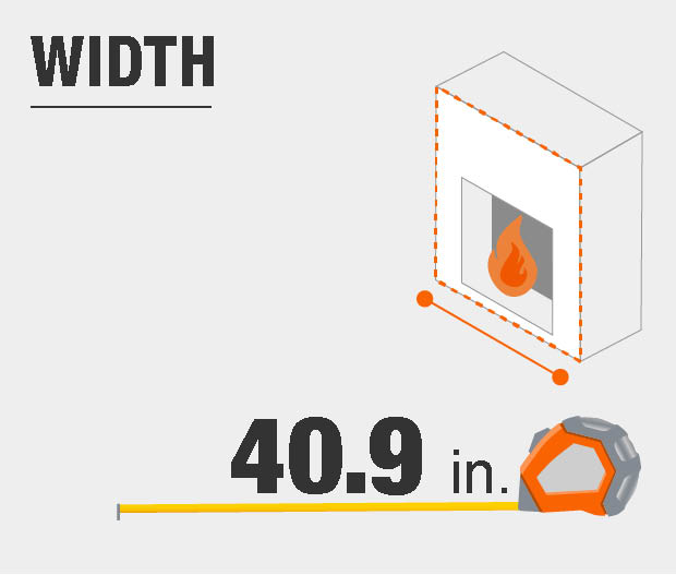 fireplace width