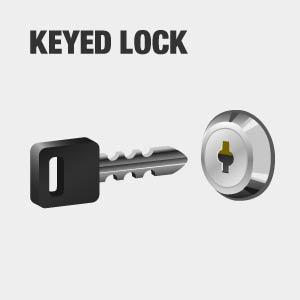 tool chest has keyed lock