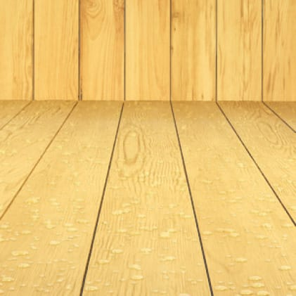 Exterior wood deck and fence coated with Transparent Penetrating Oil Wood Finish - Clear color Clear NO. 4500