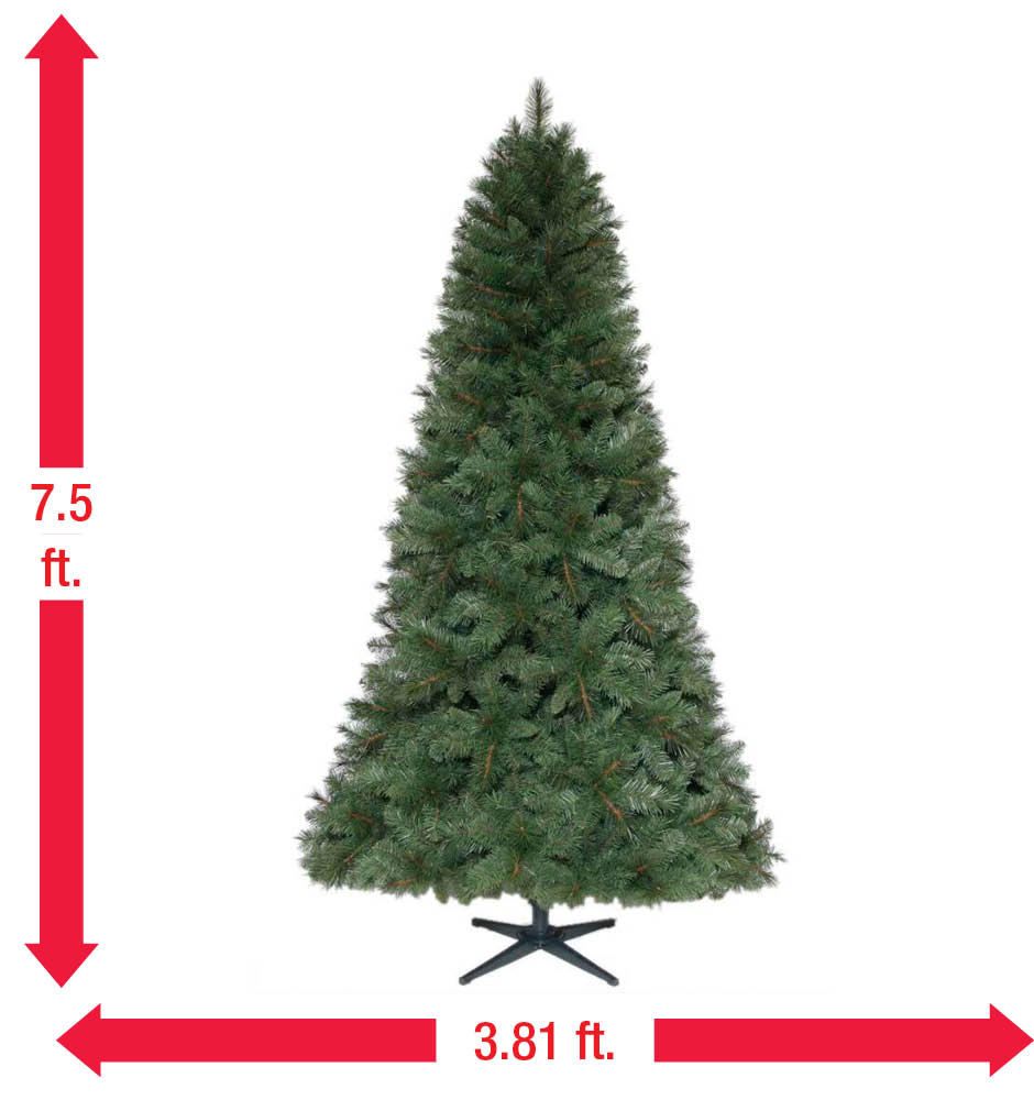 Home Accents Holiday 7.5 Ft. Unlit Wesley Mixed Spruce