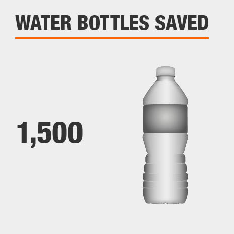 Using an HDX filter will help save 1,500 water bottles