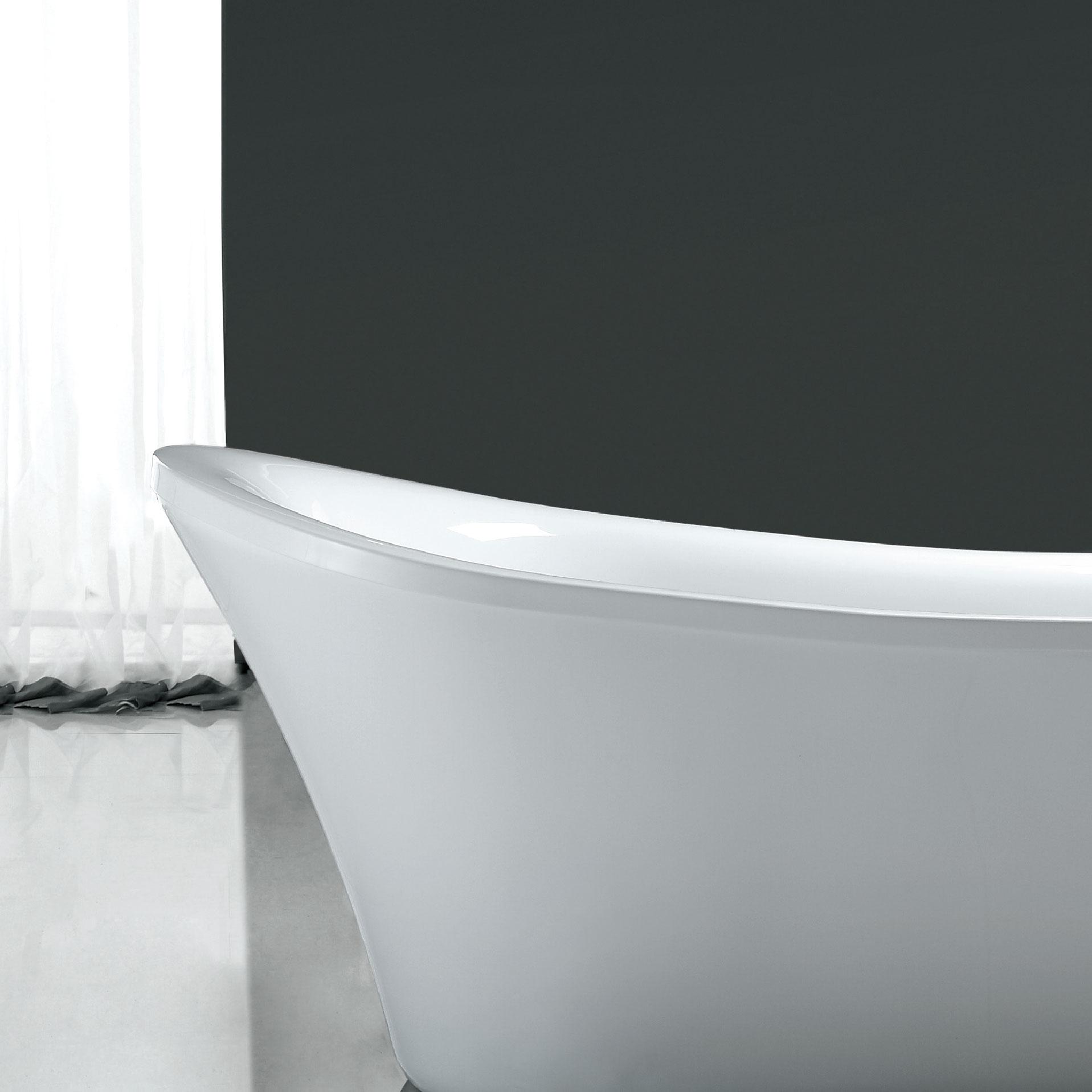 Ove Decors Rachel 5 8 Ft Reversible Drain Bathtub In