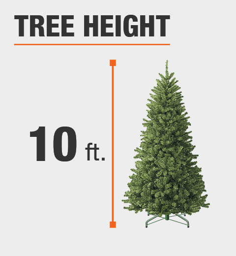 Pre Lit Christmas Tree Fuses: 10 Ft. Dunhill Fir Artificial Christmas Tree With 1200