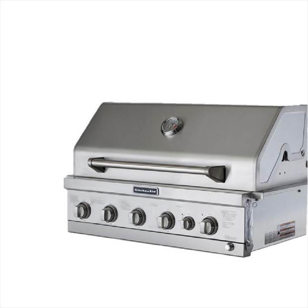 Kitchenaid burner built in propane gas island grill head
