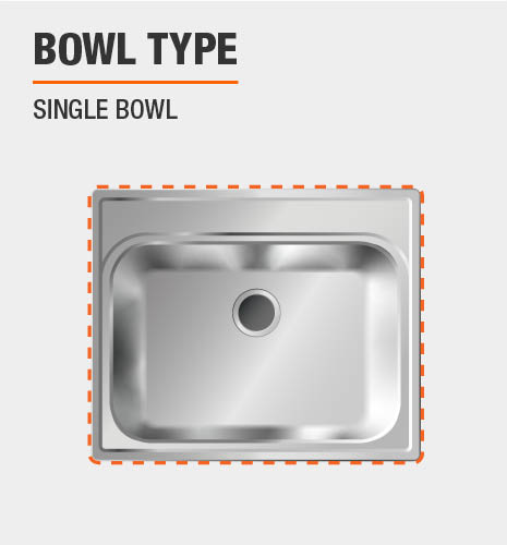 Glacier Bay Dual Mount Stainless Steel 33 In 4 Hole Single Bowl Kitchen Sink In Satin Qk053 The Home Depot