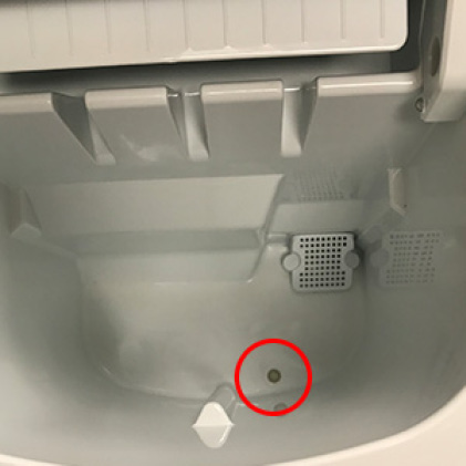 Integrated drain cap lets you empty excess water