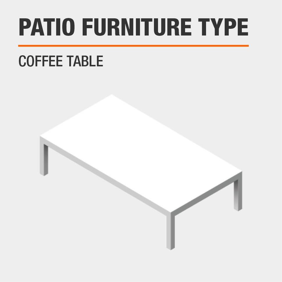 Patio Furniture Type  Coffee Table