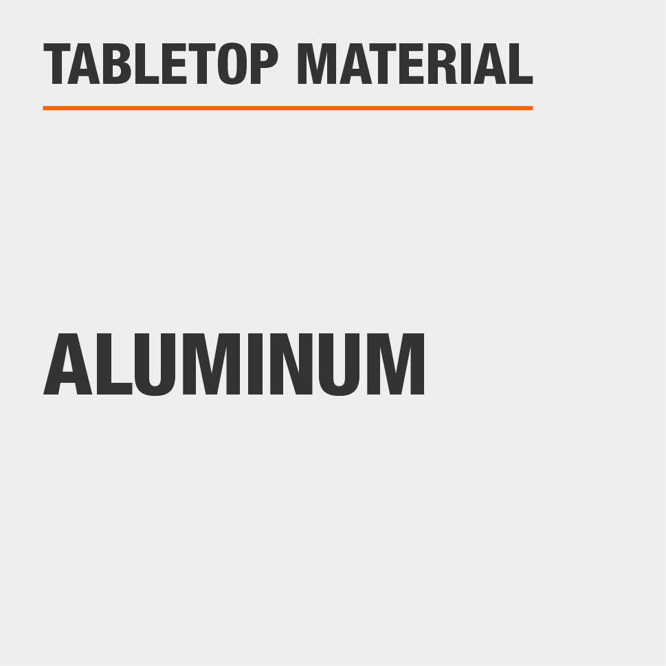 Tabletop Material Aluminum