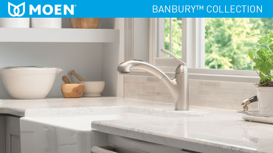 Moen Banbury Single Handle Pull Out Sprayer Kitchen Faucet