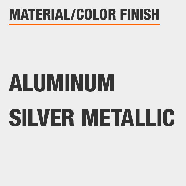 Material Aluminum Color Finish Silver Metallic