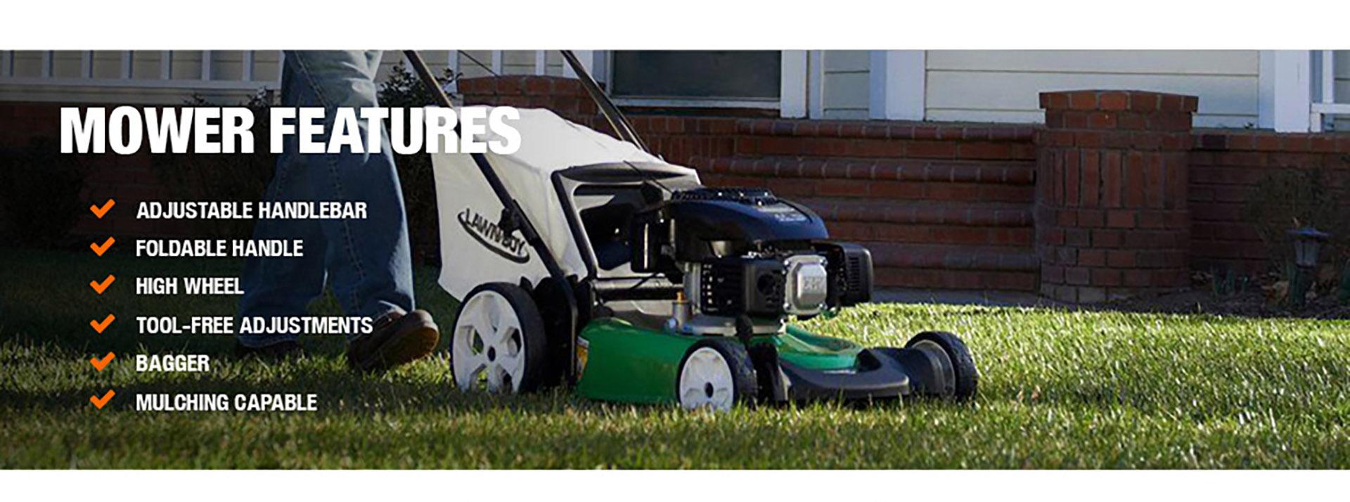 Lawn-Boy 21 in  High Wheel Gas Walk Behind Push Mower with Kohler Engine