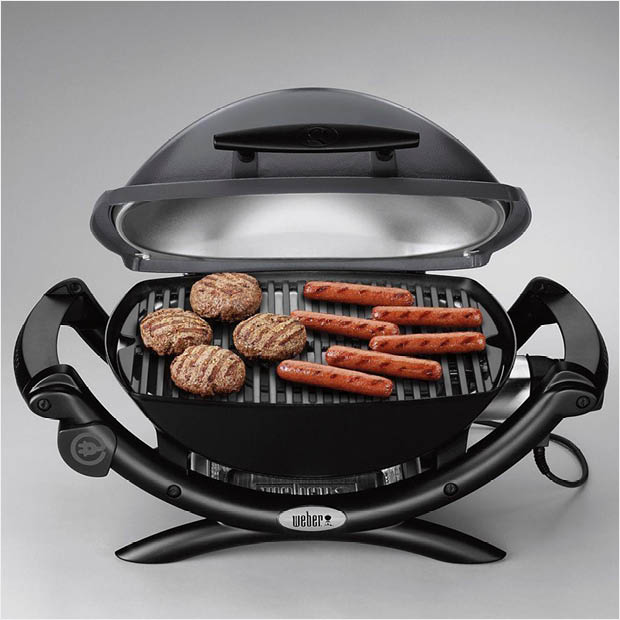 Weber Q 2400 1 Burner Portable Electric Grill In Gray