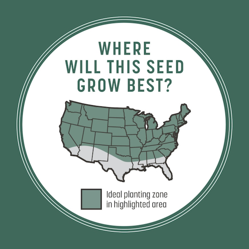 Where will this seed grow best? Map of Midwest and northern United states.