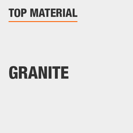 The top material of this bath vanity is granite.