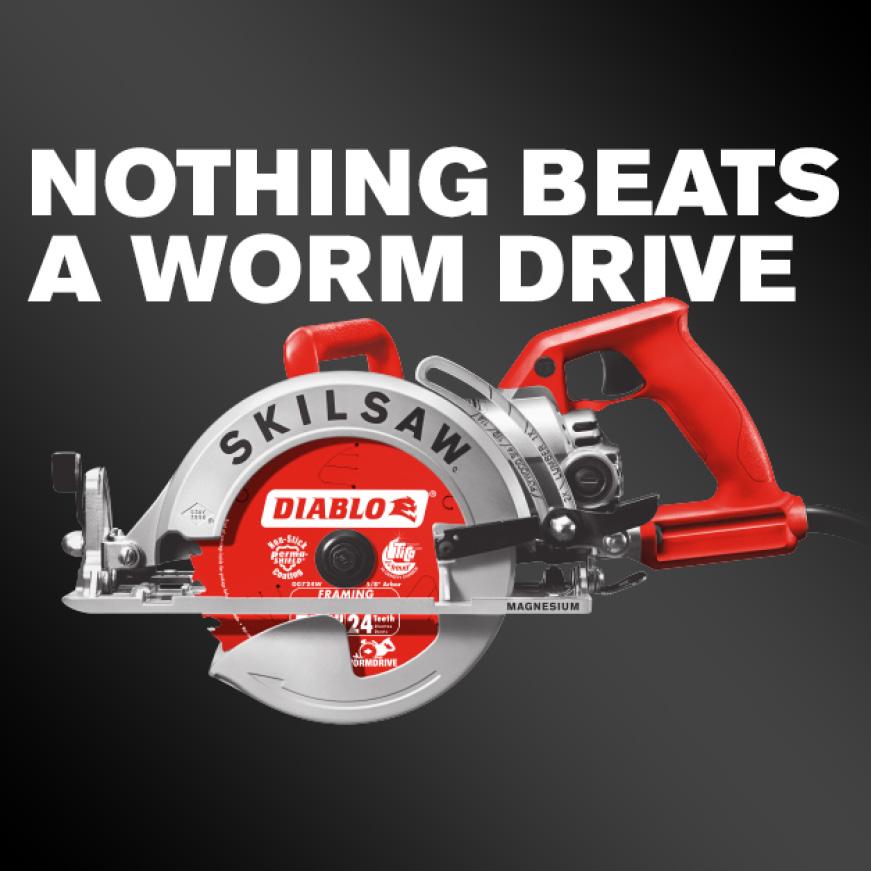 Worm Drive circular saw.