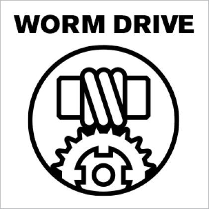 Worm drive icon.