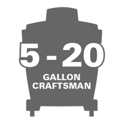 Compatible with 5.0 gal. to 20.0 gal. Craftsman Wet Dry Vacs