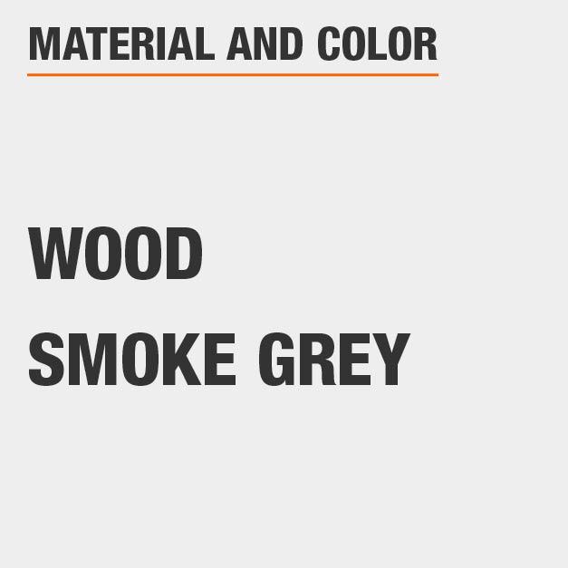 Smoke Grey Wood Rectangular Dining Table