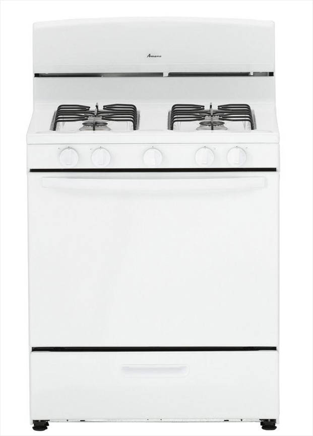 Amana 5 1 Cu Ft Gas Range In White Agr4230baw The Home