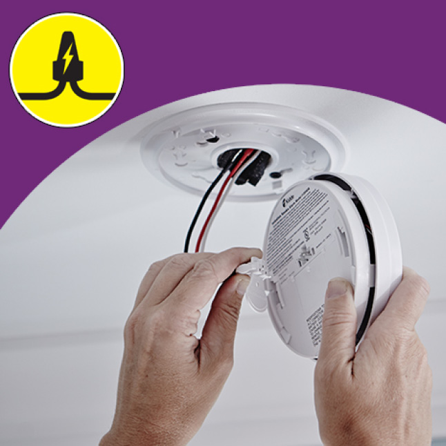 Smoke and carbon monoxide alarms run on your home's electricity, battery backup during outages