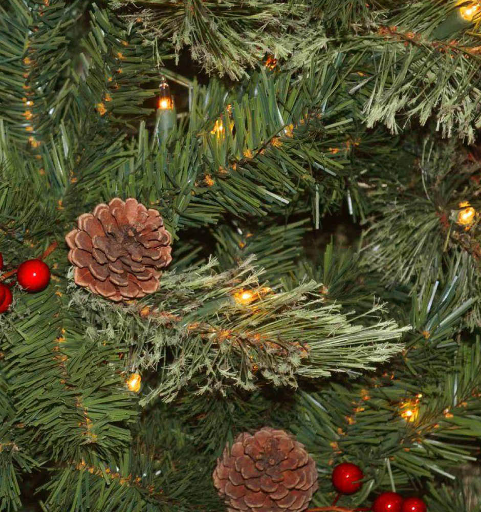 Artificial Christmas Tree Sale Home Depot: National Tree Company 7.5 Ft. Cashmere Cone And Berry
