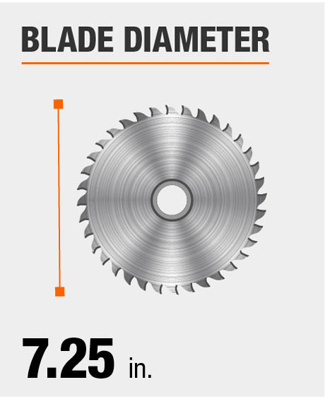 Ryobi 13 amp 7 14 in circular saw csb125 the home depot saw blade diameter keyboard keysfo Image collections