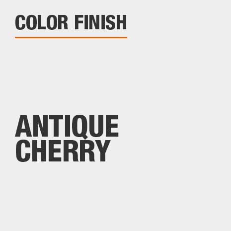 This bathroom vanity mirror color finish is Antique Cherry