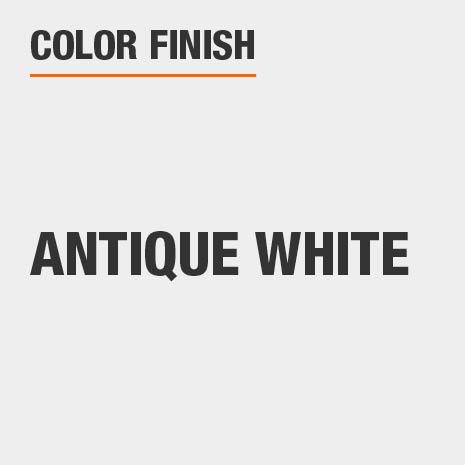 This bathroom vanity mirror color finish is Antique White
